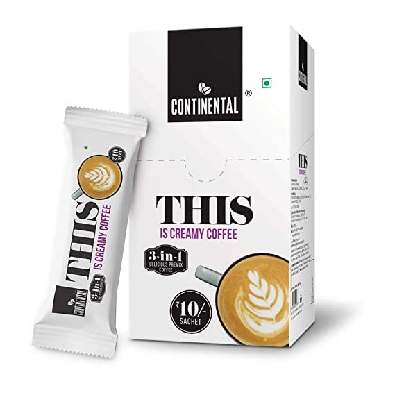 Continental THIS Creamy 3 in 1 Premix Instant Coffee 180g (18g*10 Sachets)