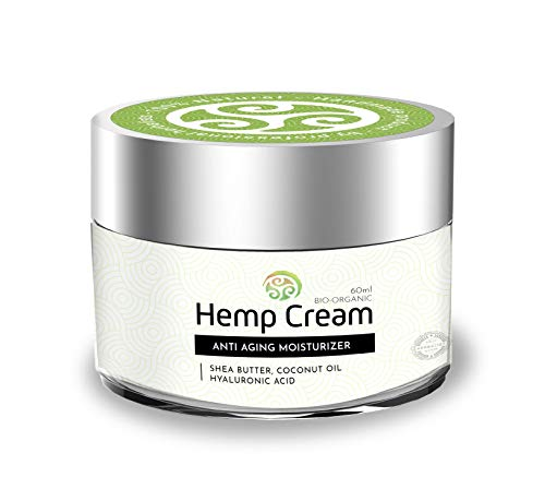 TerraBella Hemp Facial Cream – All-Natural Anti-Aging Moisturizer – Organic Topical Analgesic – Rejuvenated Skin – Premium Herbal Ingredients – Shea Butter, Coconut and Cactus Oil, Hyaluronic Acid