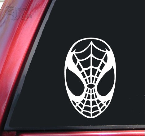 Motorcycle Mask Face Graphic (Spiderman Face Spidey Mask Vinyl Decal Sticker (6