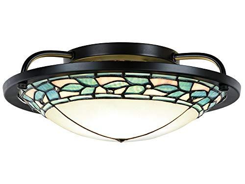 Springdale TH15475LED LED Tiffany Semi-Flush Mount, Tiffany - Leaf Tiffany