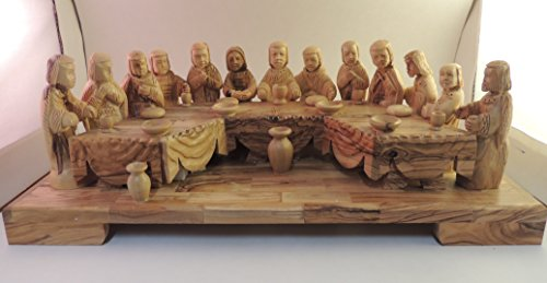 Hand-carved Olive Wood Last Supper