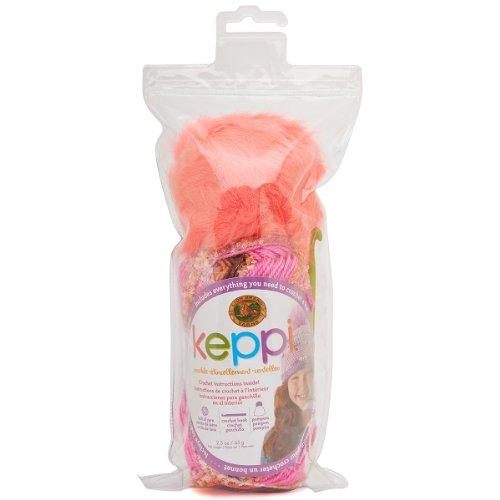 (Lion Brand Yarn 616-302 Keppi Yarn Crochet Kit, Rose Garden)