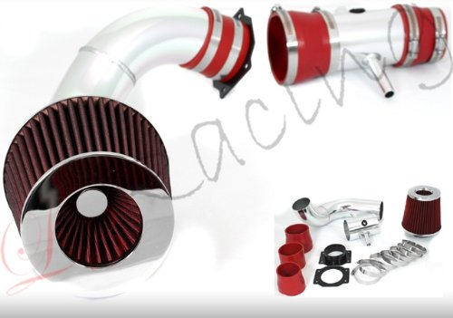 95 96 97 98 99 Nissan Maxima V6 Cold Air Intake Red (Included Air Filter) #Cai-ns001r ()