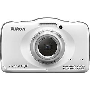 Nikon COOLPIX S32 13.2 MP Waterproof Digital Camera with Full HD 1080p Video (White) (Certified Refurbished)