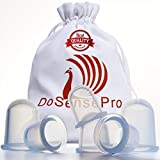 Cupping Therapy Sets Massage Cups - by DoSensePro. 6 Flexible Medical Grade Silicone Vacuum Cups. Acupuncture Fireless Cupping Therapy for Arthritis,Pain Relief, Relaxation, Anti-Aging, Anti-Cellulite