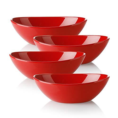 Vasa Casa Serving Bowls, 28 Ounce Large Serving Bowl, Large Bowl Set for Pasta, Soup, Dessert, Microwave & Dishwasher…
