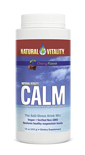 Natural Vitality Calm, The Anti-Stress Dietary Supplement Powder, Cherry - 16 Ounces