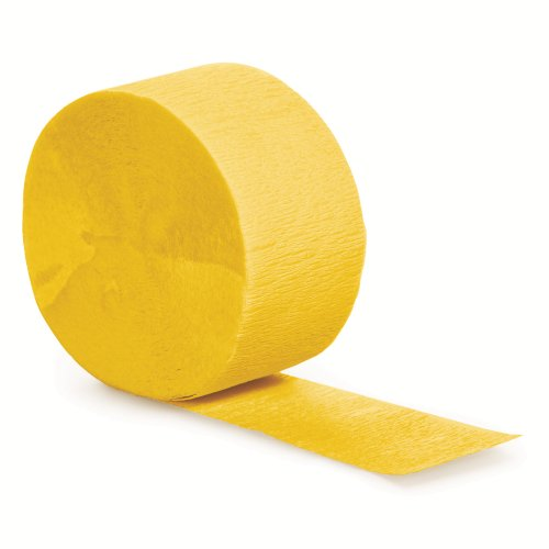 Creative Converting 12-Count Touch of Color Crepe Paper Streamer Rolls, School Bus Yellow - 078520