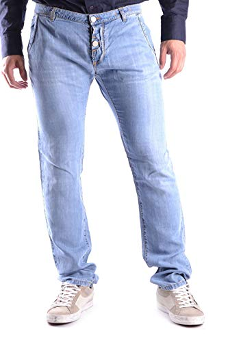 Cesare Paciotti Men's Mcbi14717 Blue Cotton Jeans
