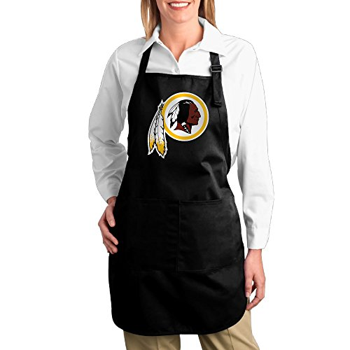 - Hotel Waitress Men Cotton Apron For Cooking Washington Redskins Twill Cotton Barbecue Adjustable Adults Cotton Apron Bibs Great Gifts