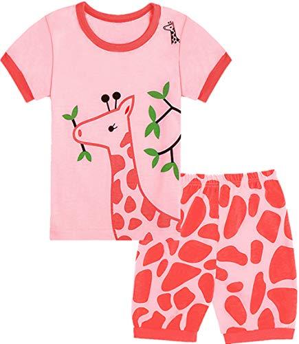 Qtake Fashion Girls Pajamas Set Children Clothes Set 100% Cotton Toddler Pjs Sleepwear Dinosaur PJS Size 12M-12T (Pajamas6, -