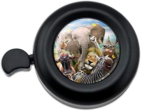 アフリカ動物自生動物キリン象ライオンシマウマ自転車ハンドルバー自転車ベル