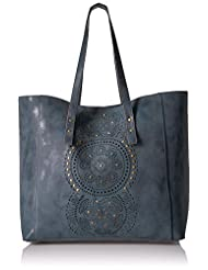T-Shirt & Jeans Tote with Perf, Blu