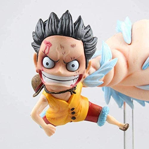 One Piece: Straw Hat Pirate Captain Luffy Luffy Big Hand Action Model-PVC Character Model-Home Accessories-Collectibles-Car Accessories-Birthday Gift Size 15 cm