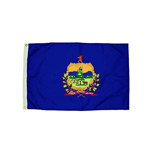 Independence Flag Nylon Vermont Flag, 3 x 5'