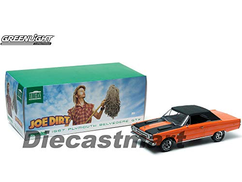 MWDx102 1967 Plymouth Belvedere GTX Convertible Orange Joe Dirt 1:18 19006 -