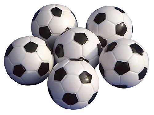 Gamesson Table Football Balls (Pack of 6) - Black/White, 32 mm