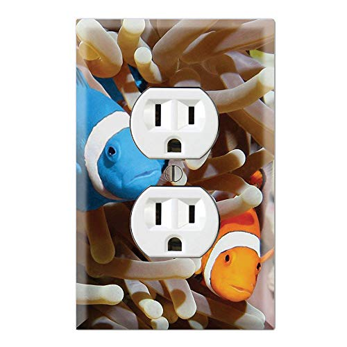 Graphics Wallplates - Blue Clownfish Anemone - Duplex