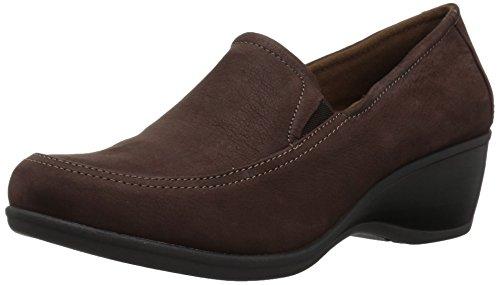 Eastland Women's Cora Slip-on Wedge, Brown, 9.5 Medium (Brown Moc Toe Wedge Heel)