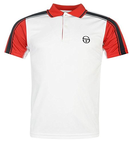 Sergio Tacchini Tennis Polo Shirt Hombre Blanco XL: Amazon.es ...