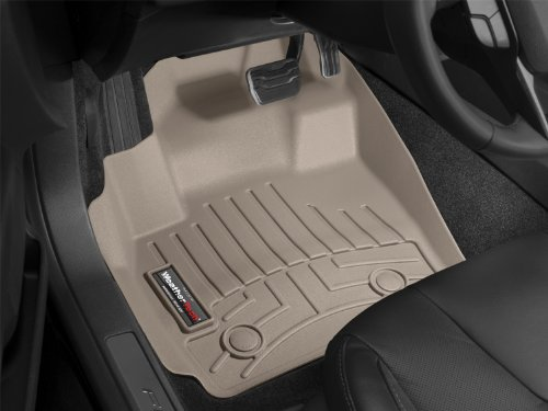WeatherTech Custom Fit Front FloorLiner for Ford Expedition, Tan (Lincoln Navigator 2005 Weathertech)