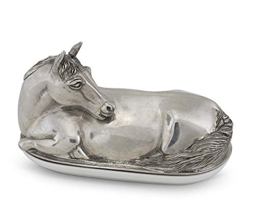 Vagabond House Pewter Metal Equestrian Horse Butter Cream Cheese Dish 7'' Long by Vagabond House (Image #2)