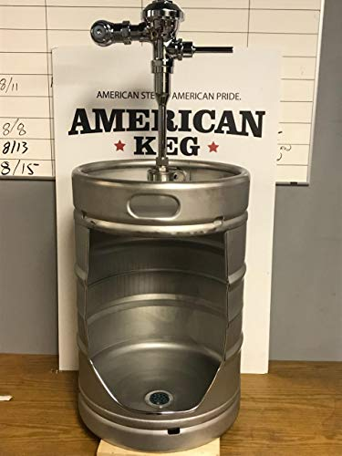 Keg Urinal with Flushing Handle