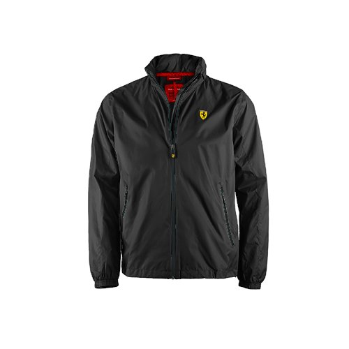 Ferrari Men's Windbreaker Jacket (Black, - Ferrari For Men Jacket
