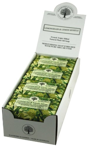 Wavertree & London: Lemongrass & Lemon Myrtle (Pack of 8 bars) – Luxury Bath Soap Bars made from Natural Plant Oils. Triple Milled French Soap Enriched with Shea Butter For Sale