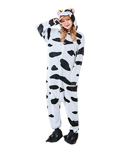 Cuddly Unicorn Onesie Pajamas Animal Costume Sleepwear with Monster Slipper Paws Shoes -