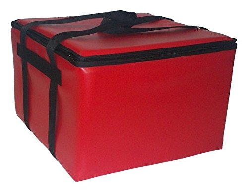 TCB Insulated Bags HGX-2-Red Insulated Catering Bag for Dome/Deli Trays, 22