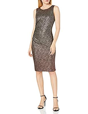 Tommy Hilfiger Womens Women's Shiny Foil Ombre Side Rouge Sheath