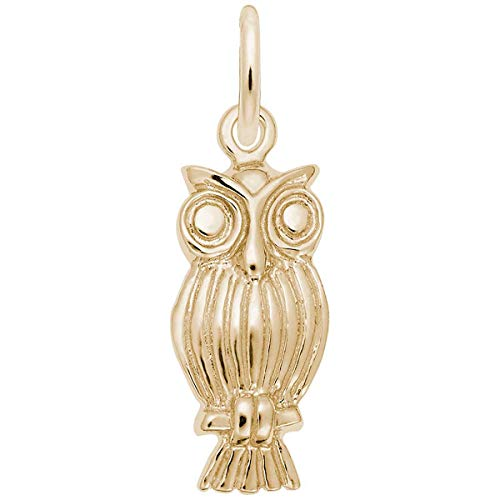 Charm Owl Rembrandt - Rembrandt Charms Owl Charm, 10K Yellow Gold