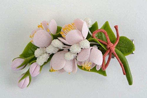 Pinza Para El Pelo Broche Artesanal De Porcelana Fría Con Forma De Ramos De Albaricoquero