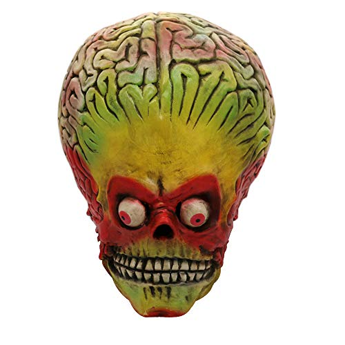 Dreamyth Cosplay Big Devil Brains Monster Melting Face Latex Costume Prop Scary Mask Toy]()
