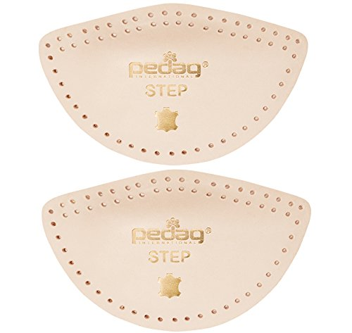 Pedag Step 16647 Symmetrical Self Adhesive Arch Support Inserts, Tan Leather, Medium Self Adhesive Arch Support