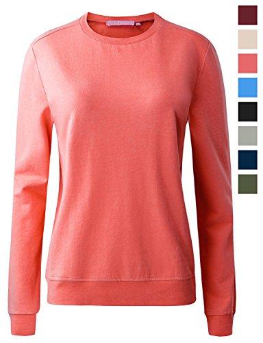 Raglan Crew Sweater (Regna X Womens Crewneck Long Sleeve Oversized Pullover Plus Size Sweatshirts)