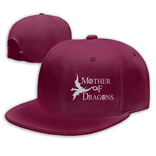 (SY COMPACT Mother of Dragons Game of Thrones Season Men's & Womens Adjustable Snapback Hat Baseball Hat Dark Red)