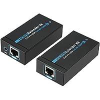 Docooler ANQ-E60 60M HDMI Extender 1080p 3D HDMI Transmitter Receiver over Cat 5e/6 RJ45 Ethernet Converter US Plug