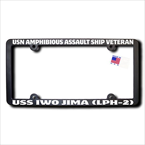 - USN Amphibious Assault Ship Veteran USS IWO JIMA (LPH-2) License Frame