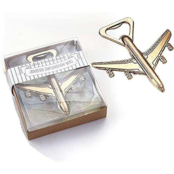 50 Antique Travel Airplane Place Card Holder Wedding Shower Party Gift Favors