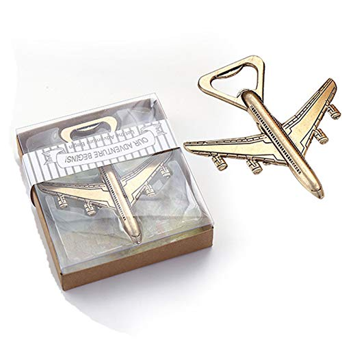 50pcs Airplane Beer Bottle Opener Wedding Favors Party Gifts for Guests by kensux