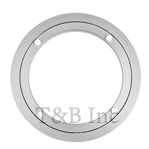 TamBee 8 Inch Aluminum Lazy Susan Heavy Duty Metal Rotating Hardware Turntable Bearings Ring 200mm Silver Turntable on ()