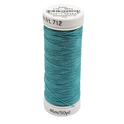 Sulky Of America 12wt Cotton Petites Thread, 50 yd, Turquoise by Sulky Of America   B016B3RTYO