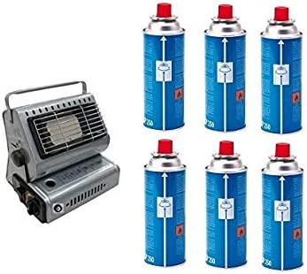Estufa estufa a gas portátil doble casquillo GPL/Butano + 6 ...