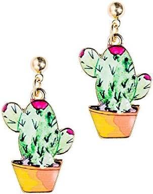 New Arrival Creative Pineapple/Cactus Pendant Womens Girl's Earring Ear Studs