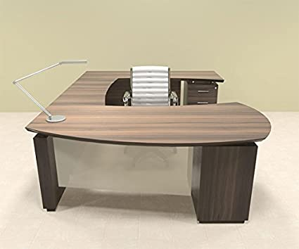 5pc Modern Contemporary U Shaped Executive Office Desk Set, #MT STE U2