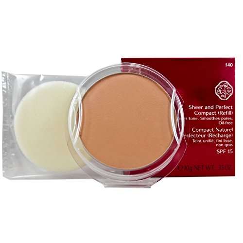 Shiseido Sheer and Perfect Refill Compact SPF 21 for Women, No. I40 Natural Fair Ivory, 0.35 oz (Refill)