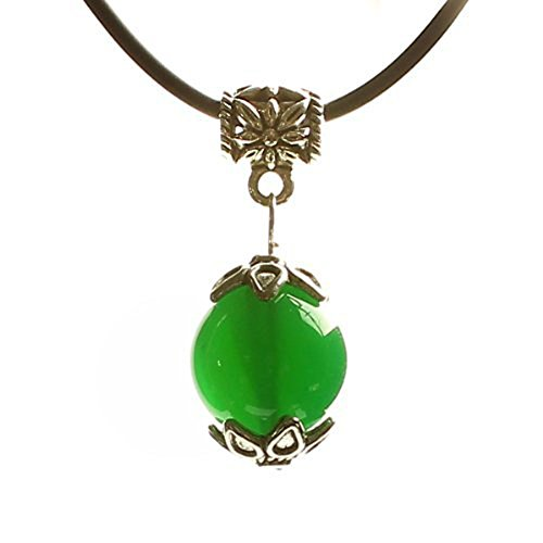 Homemade Lucky Charms Costume (ShankMing Wishing Lucky Tiger Eyes Leather Chain Bead Pendant for Women on Mother's Day Christmas &Mother's &Father's Valentine &Easter Day (Green))