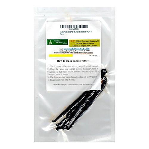 - Vanilla Products USA 5 Tahitian Near Gourmet Grade A/B Vanilla Beans PNG 4~6